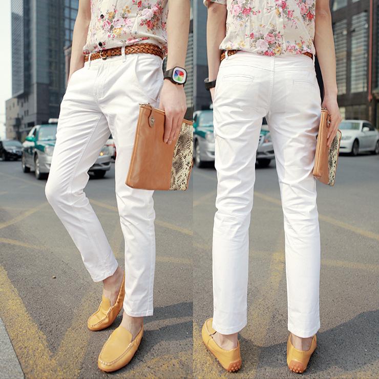 mens white khaki pants - Pi Pants
