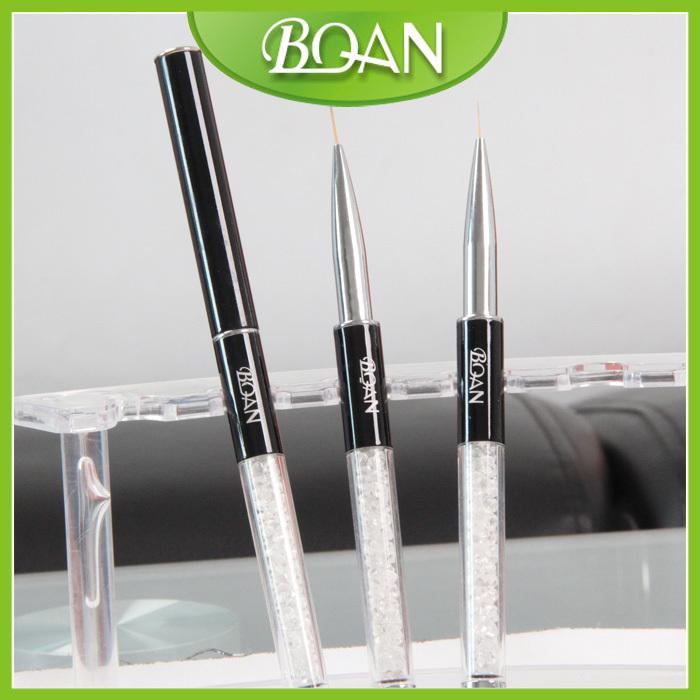 BQAN Newest Acrylic Handle with Diamonds Nail Art Liner Brush 1# 10pcs/lot <br><br>Aliexpress