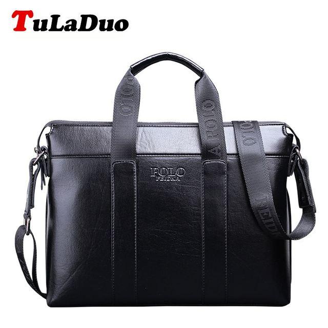 Tuladuo бренд сумка мужчин портфель кожаный ноутбук сумки деловой человек кроссбоди ...