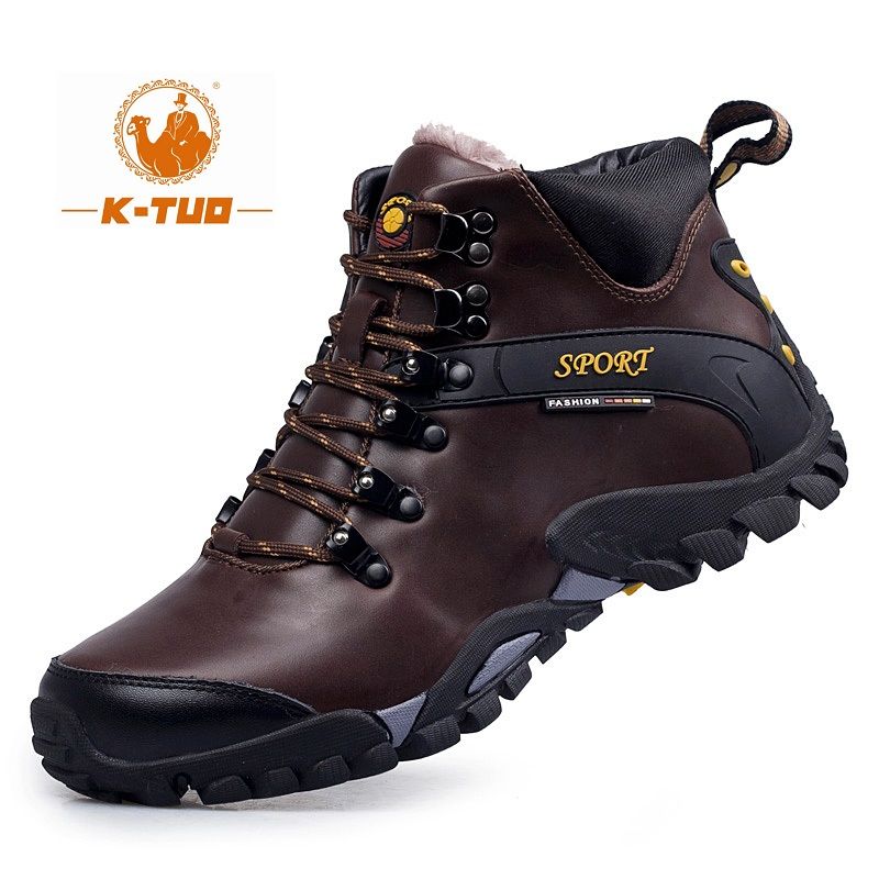 K-TUO Winter Waterproof Hiking Shoes Men Climbing Shoes Mountain Outdoor Sport Boots Non-Slip Breathable Hiking Sneakers KT-1611(China (Mainland))