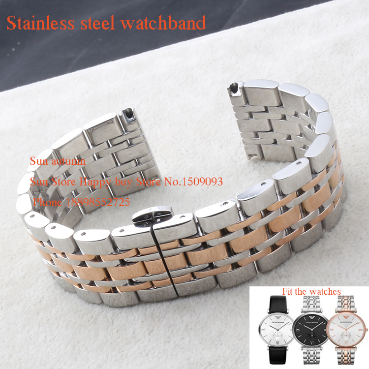 22mm Watchbands New High quality Solid link Stainless Steel Polished Watches man Bracelets For AR0382038603890380039703980399<br><br>Aliexpress