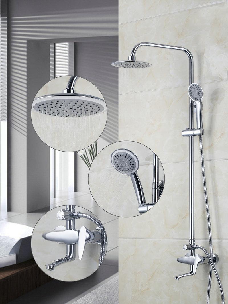 Contemporary Chrome A Grade Abs Shower Faucet Bathroom Bath Shower Faucet Set Mixer Shower