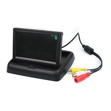 Folding Car Rearview Reverse Monitor 4.3 Inch TFT-LCD with 2-channal swich Vedio