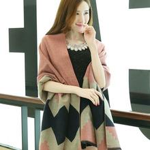 Women Oversized Blanket Scarf Wrap Shawl Cozy Faux Cashmere New 2016 Fashion(China (Mainland))