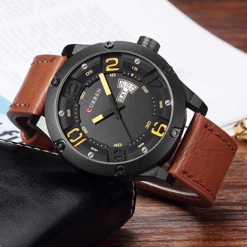 CURREN 2016 Mens Watches Top Brand Luxury Famous Men Wrist Watch Man Uhr Black Sports Army Military Quartz Watch Erkek Kol Saati