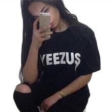 2016 summer yeezus letter print t shirt women short sleeve t-shirt black white tee shirt femme woman tshirt tops tees(China (Mainland))