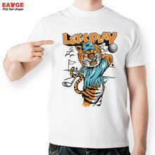 Tiger Golf Player T Shirt Design Inspired By Sport T-shirt Style Cool Fashion Casual Novelty Funny Tshirt Men Women Printed Tee(China (Mainland))