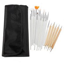 20PCS/set Makeup DIY Nail Art UV Gel Dotting Painting Pen Brush Set for Salon Manicure Tool #82086 (China (Mainland))