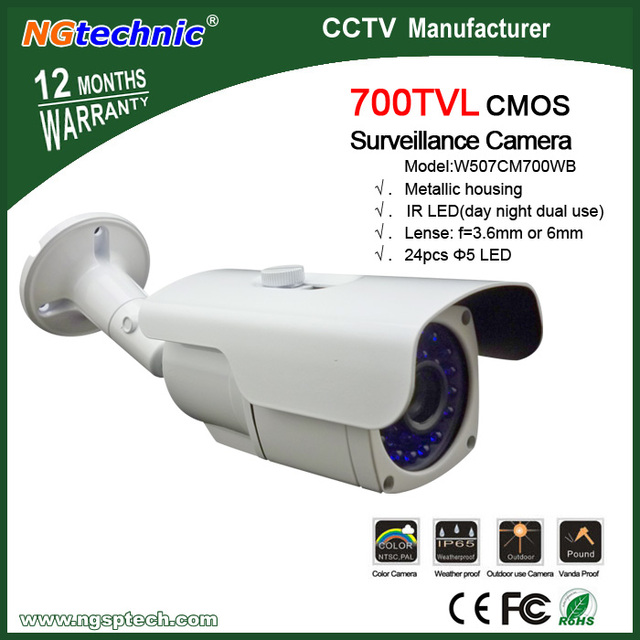 700TVL IR Day and Night Security Weatherproof Surveillance Outdoor CCTV Camera with Axis Bracket CMOS sensor
