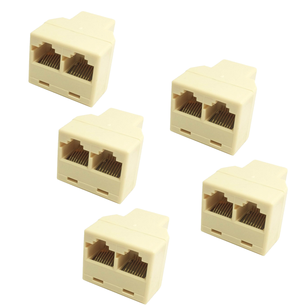 5 Pcs Ethernet RJ45 1 RJ45 Female to 2 RJ45 Female Network LAN Ethernet Splitter Adapter Connector(China (Mainland))