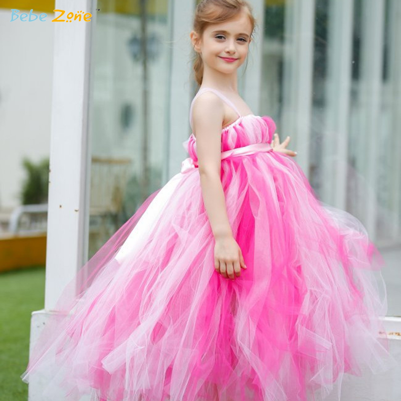 hot pink flower girl dress № 139509