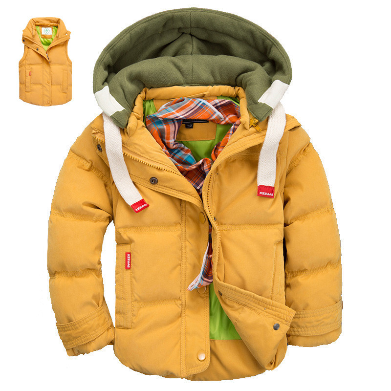 2015 Winter Children Jackets Boys And Girls Down Coat 2-10 Years Kids Outerwear Coats Moveable-Sleeve Clothing For Baby Boy/Girl(China (Mainland))