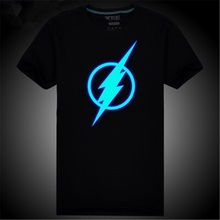 The flash costume 2015,the flash costume kids,dc the flash t shirt,kids clothes boys,funny children's clothing,noctilucent DC740
