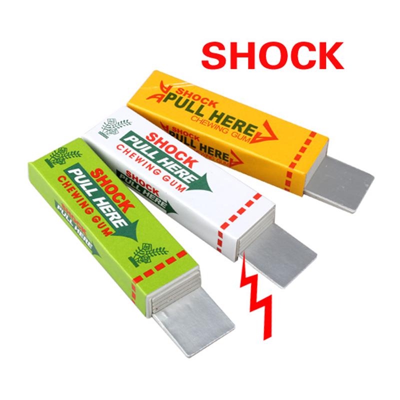 Electric Shock Joke Chewing Gum Pull Head Shocking Toy Gift Gadget Prank Trick Gag Funny FCI#(China (Mainland))