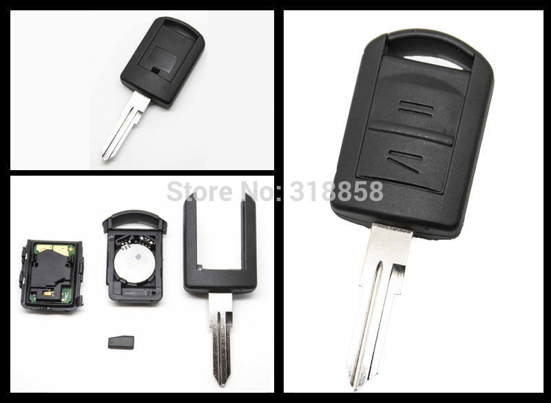 2 Button Remote Key + New Remote & Transponder ID40 For Vauxhall Opel Holden Corsa Combo Tigra 433.92MHz(China (Mainland))