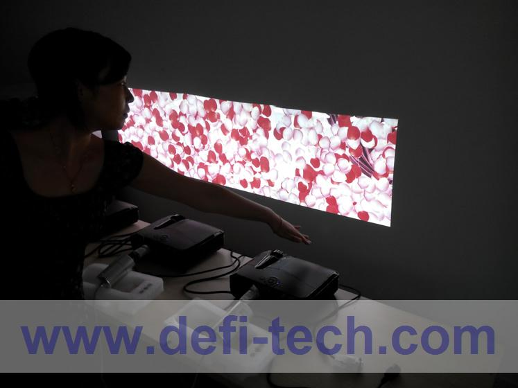 DEFI Triple screen Interactive floor system support 3 projectors including Edge Blending setting 16 effects(China (Mainland))
