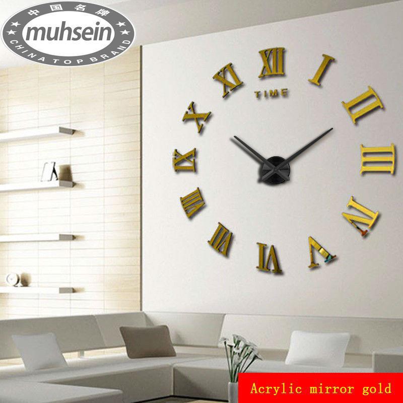 Acheter 2015 nouvelle d coration de la for Horloge murale grande taille
