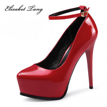 New Hot Fashion Pointed Toe Platform High Heel Shoes Woman Women Sexy Ankle Strapy Thin High Heels Heeled Pumps Party Stiletto(China (Mainland))
