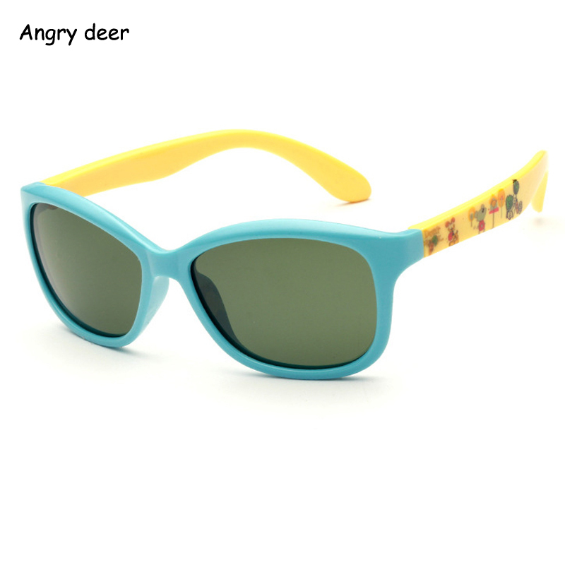 5025 Tr90 polarized children's sunglasses flexible frame printed outdoor use Age 3-10years(China (Mainland))