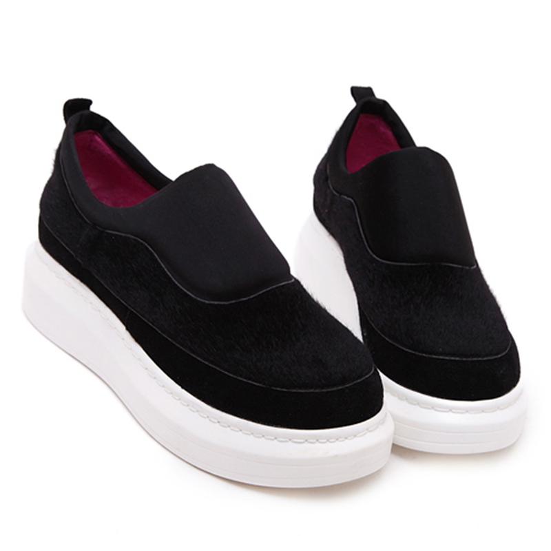 2015 Women Loafers   New  Black  Fashion Wedge Sneakers Women   Platform Shoes  Tenis Feminino Nice Sneakers  Chaussure Femme<br><br>Aliexpress