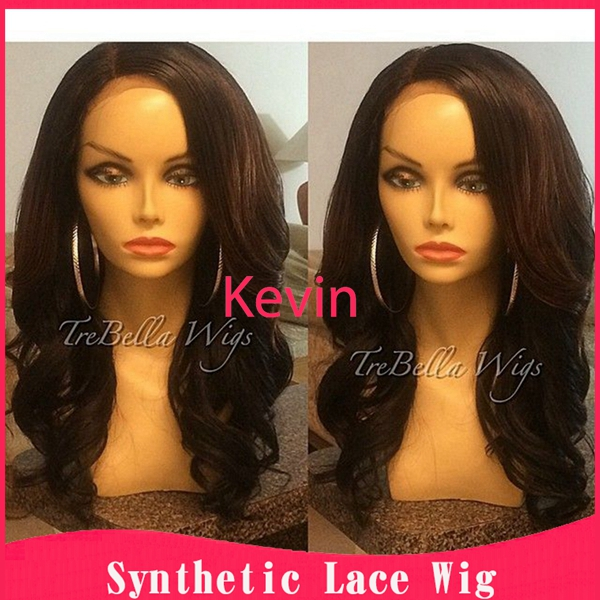Free shipping long full wigs for women fashion peruca wig pelucas sinteticas wavy heat resistant hair synthetic lace front wigs