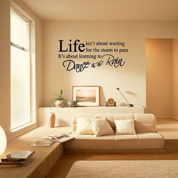 Fashion English Letters Living Room Bedroom Wall Stickers Color Black Home Decoration Dropshipping HG-WS-1566(China (Mainland))