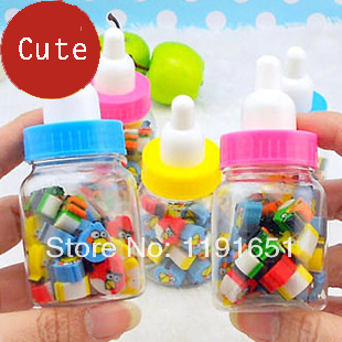Free shipping 20set/lot wholesale price Promotion Korea style popular cartoon animals bottled eraser<br><br>Aliexpress