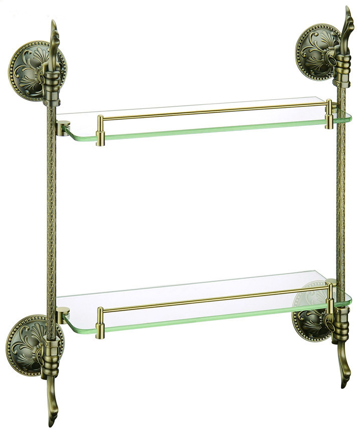 brass glass shelf, bathroom shelf,shelves, Antique Bronze bathroom fittings,bathroom accessories  AB012b-1