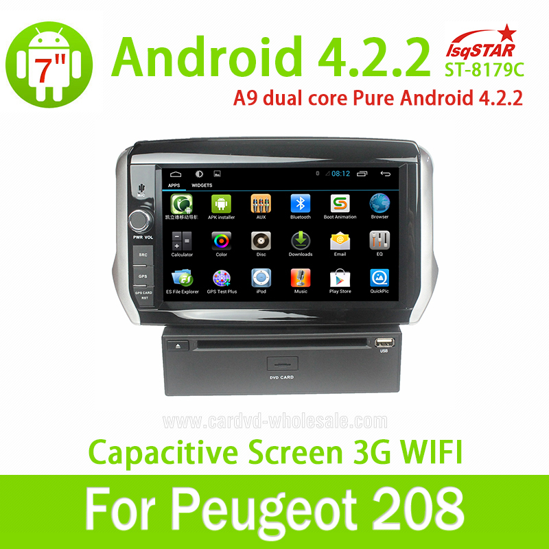 8 2 din android 4 4 car radio gps navigation for peugeot. Black Bedroom Furniture Sets. Home Design Ideas