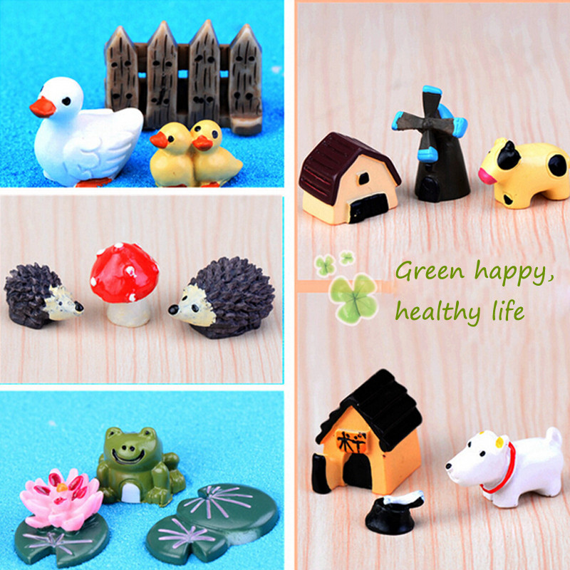 1 Pack Micro Fairy Animal Figures Micro Landscape Home Garden Decoration Mini Cute Animal Home DIY Resin Craft(China (Mainland))