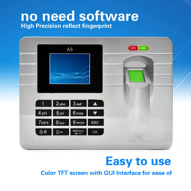 2.4 Inch TFT Screen Silver Free Software Biometric Fingerprint Attendance Time Clock  Reloj Dactilar Fare <br><br>Aliexpress