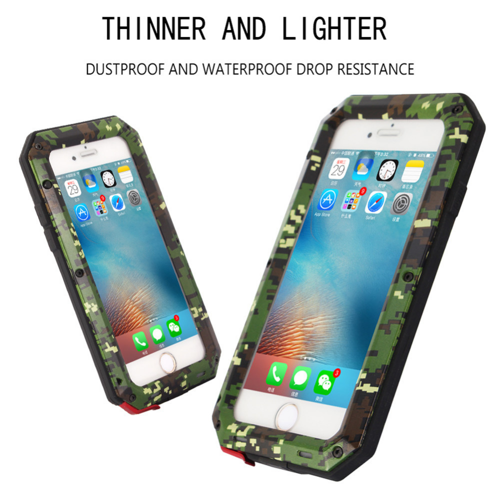 Phone Case Army Camouflage Metal WaterProof Shockproof Military Bumper Heavy Duty Cover Shell Cases For iPhone 6 6S 6/6S Plus(China (Mainland))