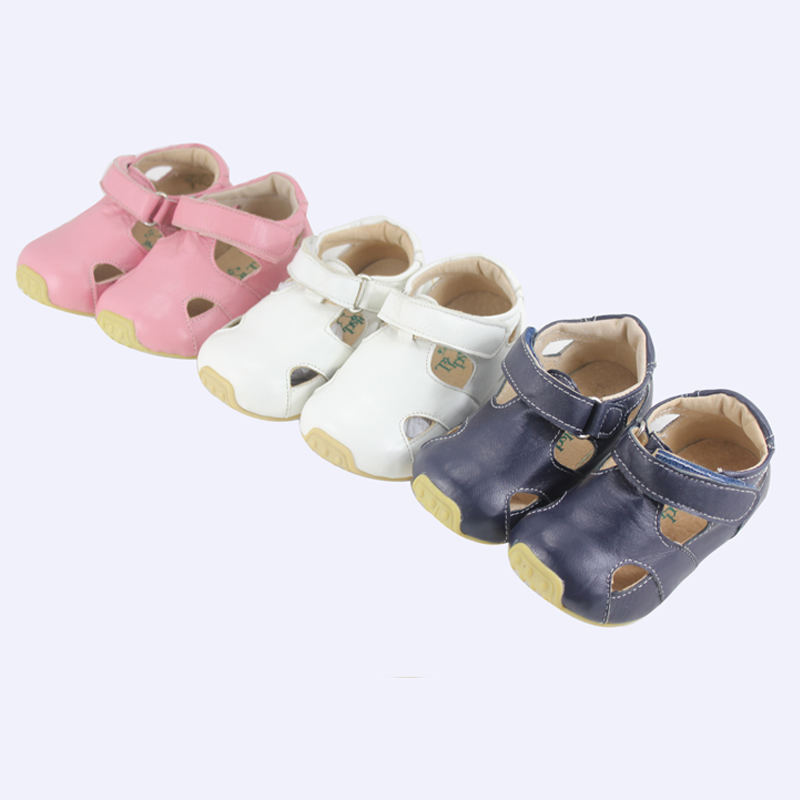 TipsieToes Brand High Quality Sheepskin Leather Kids Children Moccasins Sandals Shoes For Boys And Girls New 2016 Summer 63102(China (Mainland))