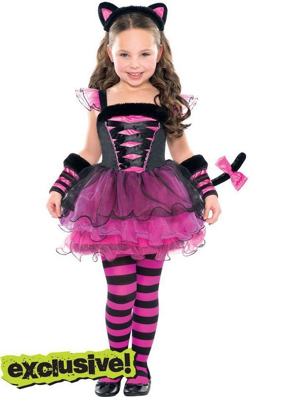 Retail 2014new christmas girls clothing sets catwoman set stripe of