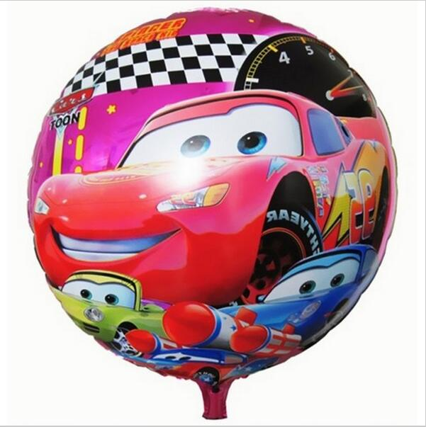 ( No minimum order !!!!!! )18inch Round Happy Birthday ballons decoration Cars Balloon for Party Supplies(China (Mainland))