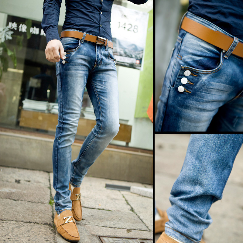 Men Skinny Jeans Fashion Men s casual wear tight jeans