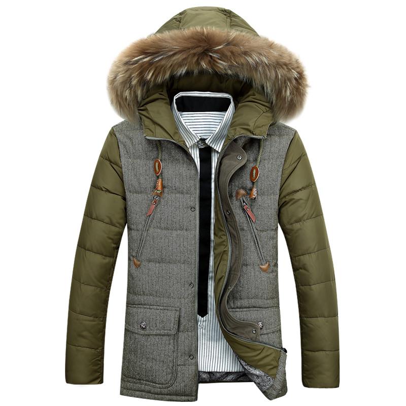 Скидки на ГОРЯЧАЯ ПРОДАЖА 2016 мужская новый зимний пуховик с капюшоном мужские Пальто Куртки мужские пальто 6016