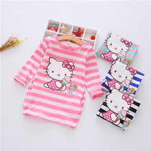 Buy Summer Girls Dress Cartoon Kids Dresses Baby Girl Clothes 2-7Y Children clothing Vestidos Costume Roupas Infantis Menina for $6.47 in AliExpress store
