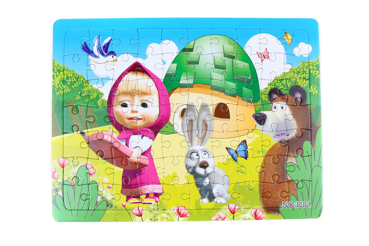 3D Paper jigsaw puzzles toys for children kids toys brinquedos Masha and Bear Princess educational Baby toys Puzles Puzzel D81-C(China (Mainland))