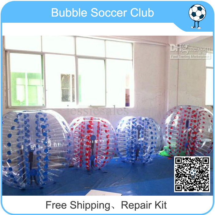 4PCS Free Shipping cost+Free Logo+ repaired kits inflatable body zorb ball bumper ball soccer bubble wholesale factory price(China (Mainland))