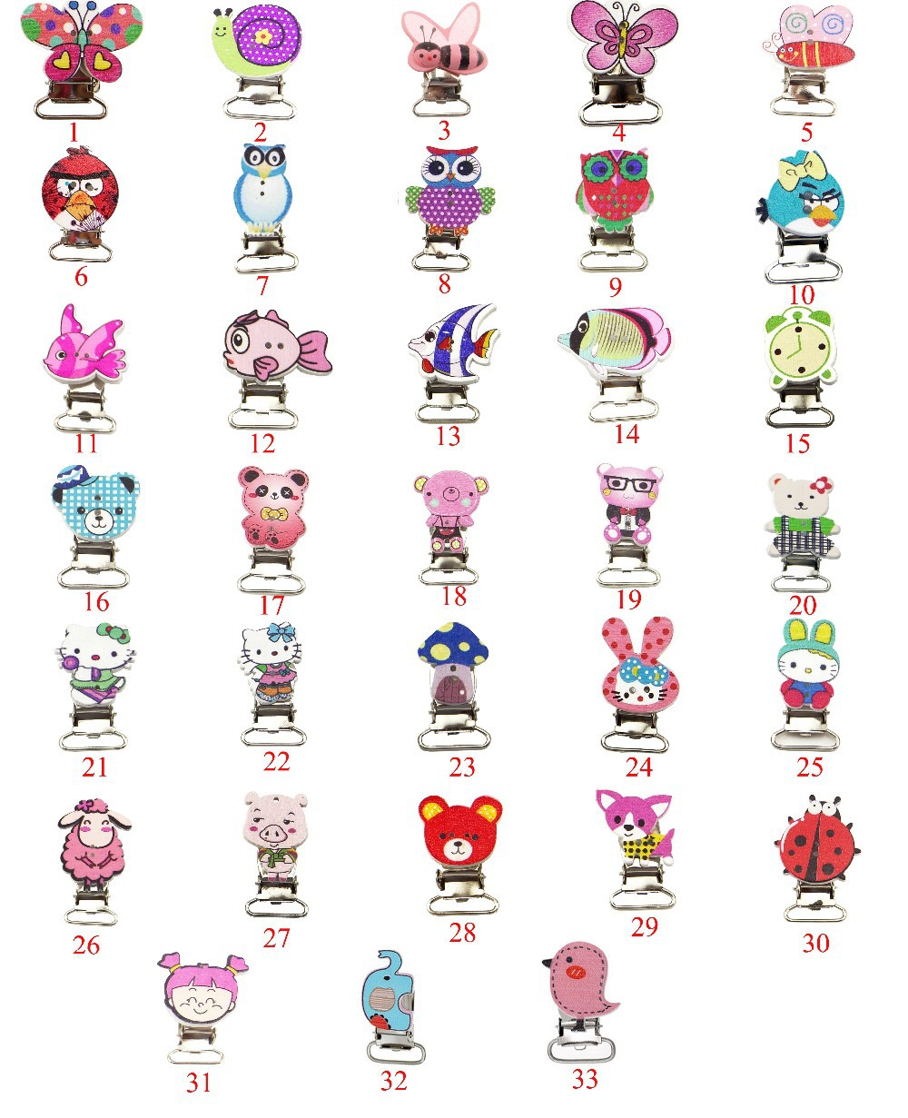 2015 hot sale baby pacifier clips,free shipping wooden baby pacifier clips,cheap dummy clips(China (Mainland))
