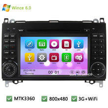 MTK MT3360 Wince 6.0 Car DVD Player Radio Audio Stereo Screen GPS Support 3G WIFI For benz Vito Viano W169 W245 B200 W169 A160