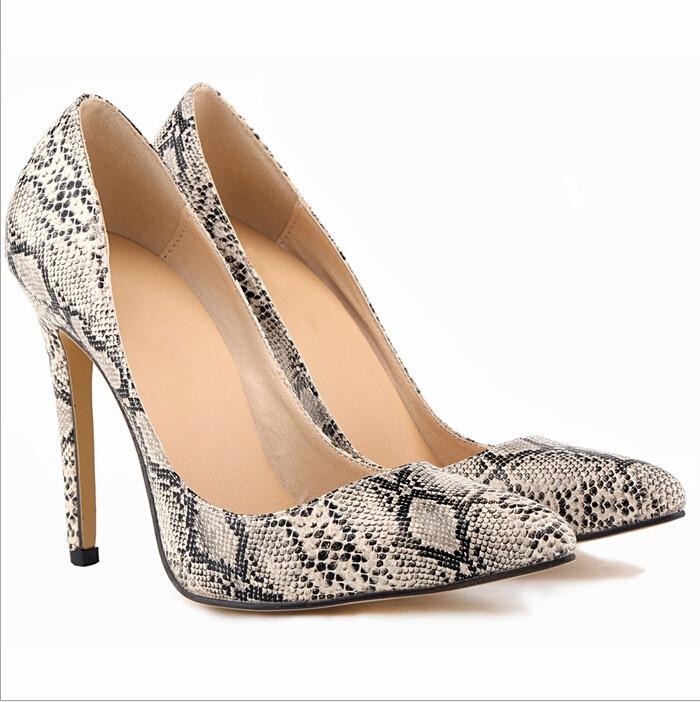 Fashion New Women High Heels Pointed Toe Stilettos Women Pumps Leopard Sexy Ladies Party Wedding Dress Shoes 11cm(China (Mainland))