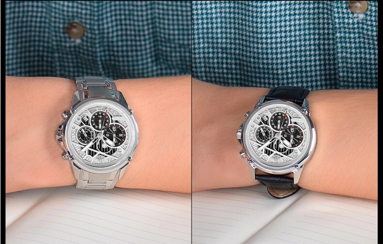 Бингер 2016 Горячей продажи Топ Марка Позолоченные Из Нержавеющей Стали Часы мода человек Janpan Кварцевый Мужские Наручные Часы Челнока