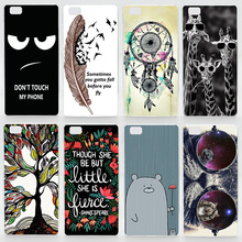 Case For Huawei Ascend P8 Lite P8 P9 P9lite P9 Plus Colorful Transparent Printing Drawing Plastic Hard Phone Cover