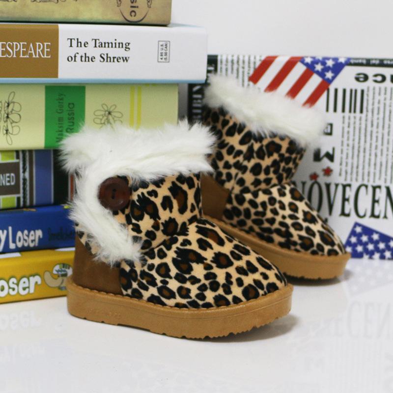 Unisex Children's Warm Snow Boots Thicken Winter Kids Girls Boys Cotton Shoes Rubber Bottom Baby Shoe Size 22-33 Fur Collar(China (Mainland))