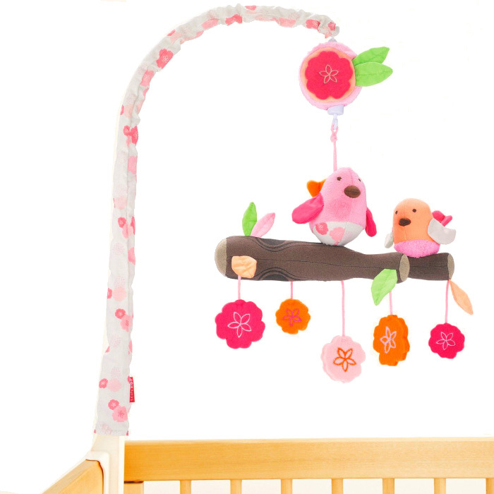 Brand Baby Musical Crib Mobile new Cute Spiral Activity Travel Toys newborn Baby Rattles Toy child rattle(China (Mainland))