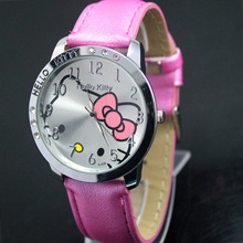 2015 NEW HOT Sale LOW Price Fashion Girls Cute Cartoon Watch Hello Kitty Watches Woman Children
