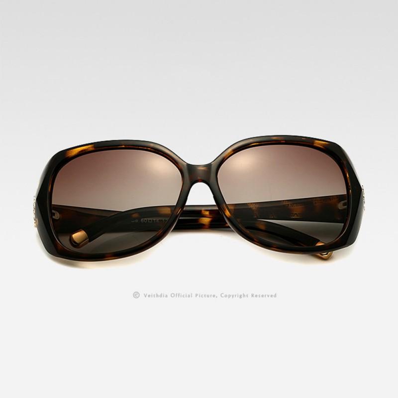 Hot Veithdia Brand Women Vintage Large Sun Glasses Polarized Carved Diamond Designer Sunglasses Outdoor Eyewear Goggle(China (Mainland))