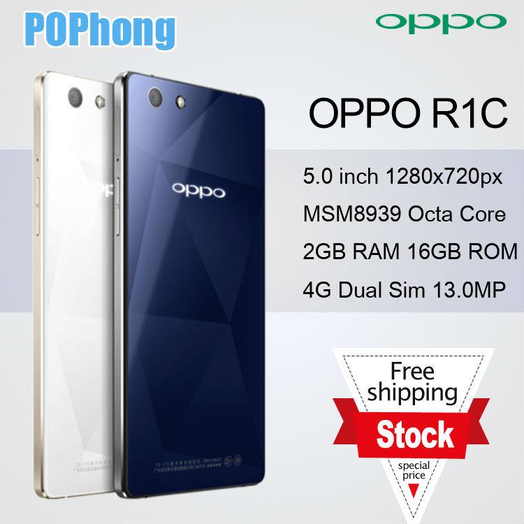 F Original OPPO R1C Mobile Phone FDD LTE 4G 5.0inch HD Snapdragon MSM 8939 Octa Core 2G RAM 16G ROM Dual SIM 13.0MP(China (Mainland))
